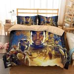 3d Black Panther Marvel American Superhero Film Bedding Set (Duvet Cover & Pillow Cases)