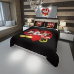 Disney Mickey And Minnie Love Bedding Set (Duvet Cover & Pillow Cases)