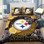 Pittsburgh Steelers Duvet Cover Bedding Set