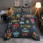 Robots Toys Pattern Bedding Set For Kids (Duvet Cover & Pillow Cases)