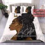 African Black Princess Personalized Name Duvet Cover Bedding Set
