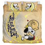 Love Snoopy To The Moon & Back – Bedding Set  (Duvet Cover & Pillow Cases)