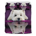 Cute West Highland White Terrier (Westie) Dog 3d Duvet Cover Bedding Set