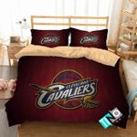Nba Cleveland Cavaliers Basketball 3d Logo Bedding Set (Duvet Cover & Pillow Cases)