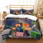 3d Minecraft Characters Bedding Set  (Duvet Cover & Pillow Cases)