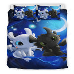 Toothless And The Light Fury Bedding Set  (Duvet Cover & Pillow Cases)