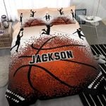 Basketball Personalized Name Bedding Set (Duvet Cover & Pillow Cases)
