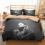 Ariana Grande Portrait Black And White Bedding Set (Duvet Cover & Pillow Cases)