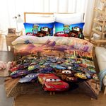 Cars On The Race Characters Of Cars 3 3d Printed Bedding Set (Duvet Cover & Pillow Cases)