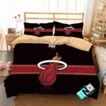 Nba Miami Heat Logo 3d Printed Bedding Set (Duvet Cover & Pillow Cases)