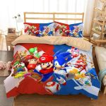 3D Mario And Sonic Duvet Cover Bedding Set