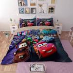 Movie Cars Lightning Mcqueen Duvet Cover Bedding Set
