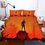 Fortnite Night Theme Digital Printing Household Items Oranges 3d Bedding Set (Duvet Cover & Pillow Cases)