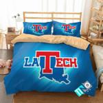 Ncaa Louisiana Tech Bulldogs Logo Bedding Set (Duvet Cover & Pillow Cases)