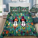 Disney Mickey And Minnie Pattern Background Bedding Set (Duvet Cover & Pillow Cases)