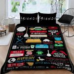 Friends Tv Show Iconic Stuffs Bedding Set (Duvet Cover & Pillow Cases)