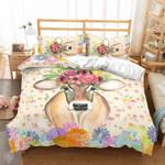 Floral Cow Bedding Set (Duvet Cover & Pillow Cases)