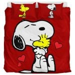 The Peanuts Movie Snoopy And Woodstock Friendship Duvet Cover Bedding Set