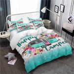 Happy Camper Flowers Bedding Set (Duvet Cover & Pillow Cases)