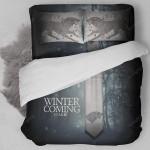 Game Of Thrones House Stark Bedding Set (Duvet Cover & Pillow Cases)