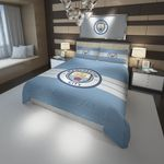3d Manchester City F.C. Logo Soccer Duvet Cover Bedding Set For Fans
