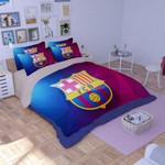 Fc Barcelona 3d Logo Duvet Cover Bedding Set