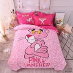 Cute Pink Panther Duvet Cover Bedding Set