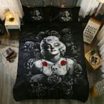 Skulls &Amp; Marilyn Monroe Bedding Set (Duvet Cover & Pillow Cases)