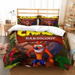3d Crash Bandicoot Et Duvet Cover Bedding Set