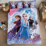 Frozen Anna Elsa Princess Duvet Cover Bedding Set