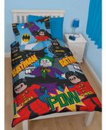 Lego Dc Superheroes Batman Dynamic Duvet Cover Set - Lego Bedding