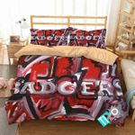 Ncaa Wisconsin Badgers 2 Logo N 3d Duvet Cover Bedding Sets