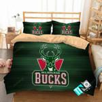 Nba Milwaukee Bucks 1 Logo 3d Duvet Cover Bedding Sets N