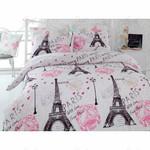 Paris Eiffel Tower With Love From Paris Bedding Set (Duvet Cover & Pillow Cases)