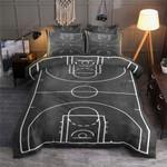 Basketball Court Illustration Bedding Set For Fans (Duvet Cover & Pillow Cases)
