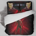 Iron Man Illustration Portrait 3d Printed Bedding Set (Duvet Cover & Pillow Cases)