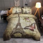 Eiffel Tower Paris Bedding Set (Duvet Cover & Pillow Cases)