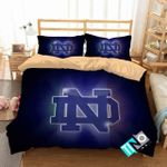 Ncaa Notre Dame Fighting Irish 2 Logo V 3d Duvet Cover Bedding Sets