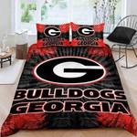 Georgia Bulldogs Logo 3d Printed Duvet Cover Bedding Set