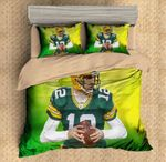 3D Aaron Rodgers Green Bay Packers Bedding Set For Fans