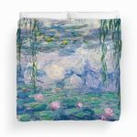 Water Lilies Painting By Claude Monet Fine Art Bedding Set (Duvet Cover & Pillow Cases)