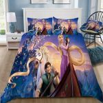 3d Disney Movie Tangled Bedding Set (Duvet Cover & Pillow Cases)