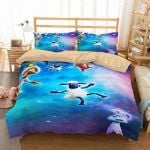 3D Shaun The Sheep Galaxy Duvet Cover Bedding Set