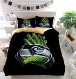 Nfl Seattle Seahawks Gloves Duvet Cover Bedding Set