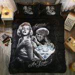 3d Marilyn Monroe Duvet Cover Set Us King Size Black Skull Bed Linens