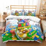 3d Super Mario 3d World Duvet Cover Bedding Set