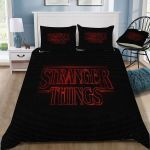 Stranger Things Logo #2 Duvet Cover Bedding Set