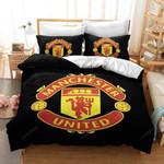 Manchester United Soccer Club Logo Bedding Set (Duvet Cover & Pillow Cases)