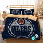 Nhl Edmonton Oilers 1 Logo 3d Duvet Cover Bedding Sets V