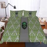 Harry Potter Slytherin Campus Badge Duvet Cover Set With Pillowcase Bedding Set